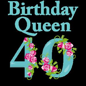 Geburtstag Geschenk Damen 40 Jahre Birthday Queen