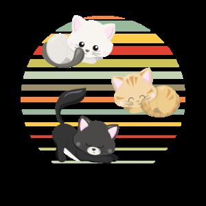 Katze Besitzer Geschenk Katzenfreunde Süße Katzen
