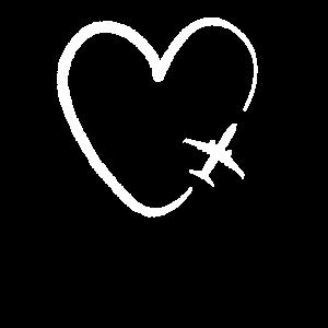 Flugzeug fleigen reisen Urlaub Herz Stewardess süß