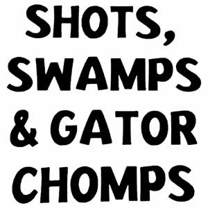 Black Design Shots Swamps Gator Chomps