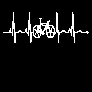 Radfahrer Herzschlag Fahrrad T-Shirt