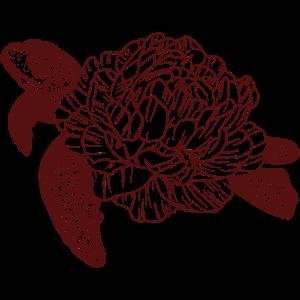 Schildkröte mit Rosenpanzer