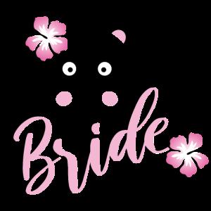 Bride Panda JGA Hochzeit Braut Team Gruppenshirt 1