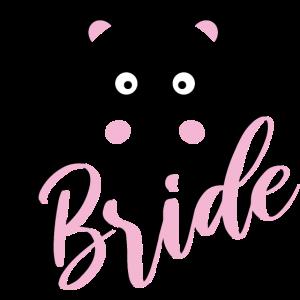 Bride Panda JGA Hochzeit Braut Team Gruppenshirt 2