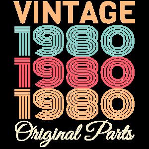 Vintage 1980 40. Geburtstag 40 Jahre Retro Style