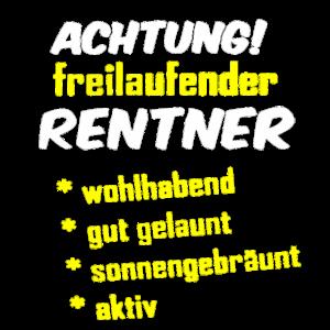 Freilaufender Rentner Rente Rentner 2020