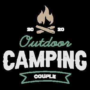 Camping Pärchen Paar Camper Geschenk Partner Retro