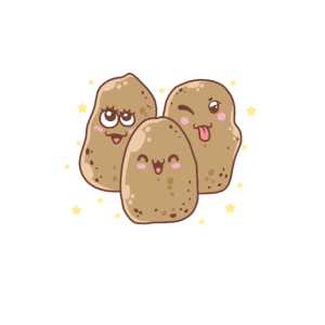 Potato Squad Kawaii Süßes veganes Lebensmittelgemüse