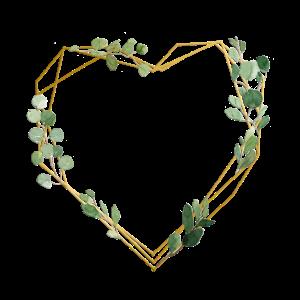 Herz geometrisch floral personalisierbar
