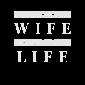 Happy Wife Happy Life Spruch Geschenk