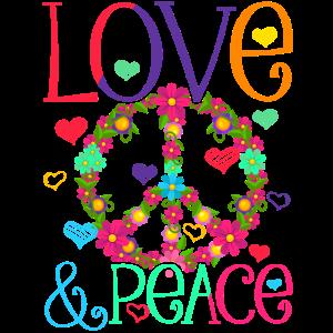 Hippie Love Peace Flower Power Friedensbewegung