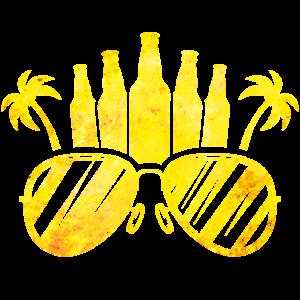 Sonnenbrille bier Palmen symbol