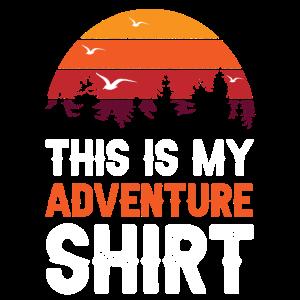 Adventure Shirt Retro Abenteuer Geschenk Outdoor