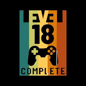 Level 18 Complete 18. Geburtstag Spruch Geschenk