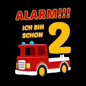 2. Geburtstag Feuerwehrauto 2 Jahre Geschenk Junge