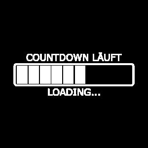 Countdown läuft Loading Ladebalken Vorlage Vektor