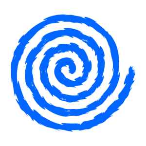 Spirale Symbol Wachstum und Erweiterung