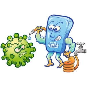 Soap and water are deadly enemies of Coronavirus