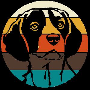 Beagle Portrait Love Geschenk Retro Vintage Look