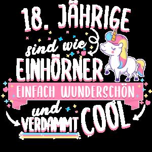 Geburtstag 18 Geburtstag Einhorn Spruch Party