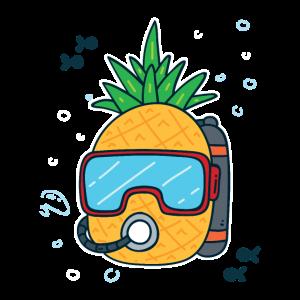 Geraetetaucher Taucher Tauchen Ananas