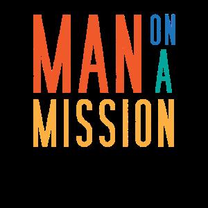 Mann mit einer Mission