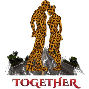 Together leopard - crocodile red color
