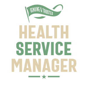 Health Service Manager Work Job Title Geschenk