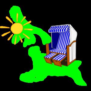 Usedom Sonne Strandkorb