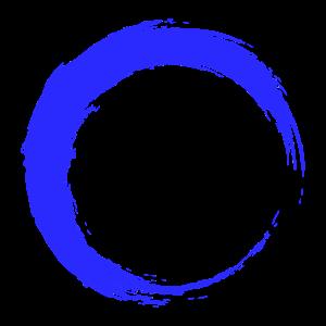 Kreis neue Variante Kreisform Bürste Blau