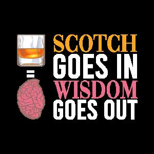 Schottischer Whisky-Trinker macht Sprüche