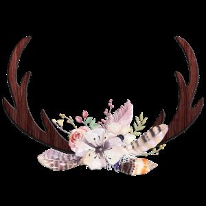 Boho Geweih Blumen 2