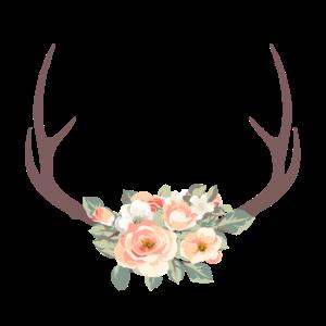 Boho Geweih Blumen 3