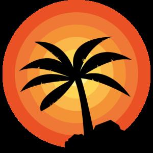 Sommer Urlaub Palme Sonnenuntergang