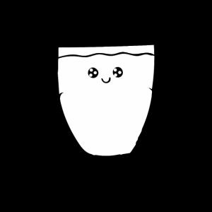 Glas - Zeichnung - MIlch