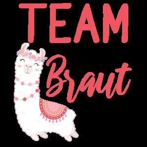 Team Braut Alpaca Lama Alpaka JGA Party