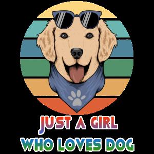 Nur ein Mädchen, das Hund lustige Geschenk-Hundeschule liebt