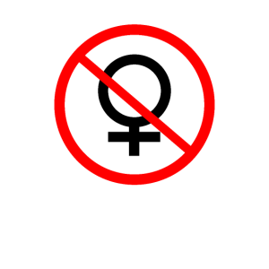 Anti Frau Frauen verboten Junggeselle Macho
