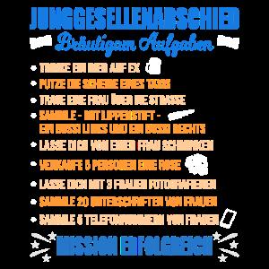 JGA Aufgaben Bräutigam Junggesellen Checkliste