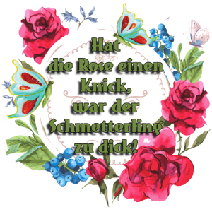 Garten Rose Schmetterling Design Geschenk