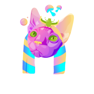 Psychedelische Katze