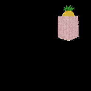 Cute Pocket Pineapple Fruit Gift Design