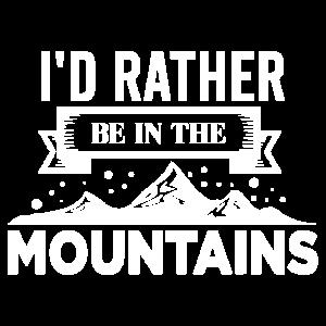 Skifahren I'd rather be in mountains Geschenkidee