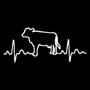 Kuh Landwirt Bauer Pulse Herzschlag Geschenk