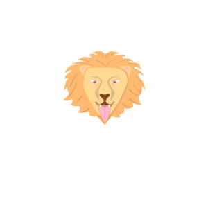 Lion weisser Schriftzug (Löwe) crittercontest