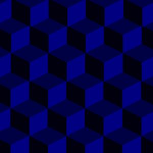 Würfel blau 3D