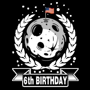 Geschenk 6. Geburtstag Raumfahrt Astronaut