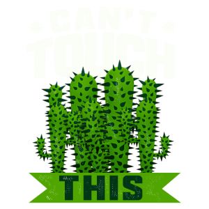 NICHT ANFASSEN! Witziges Kaktus Design