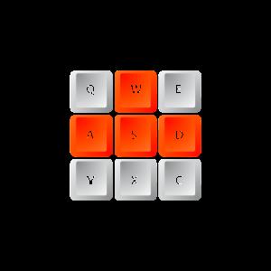 WASD Gamer Steuerkreuz Tastatur