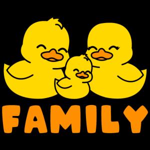 Gelbe Enten Familie